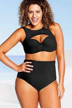 2d819b8314 30 Gorgeous Plus-Size Bikinis For Summer Mid Waist Bikini