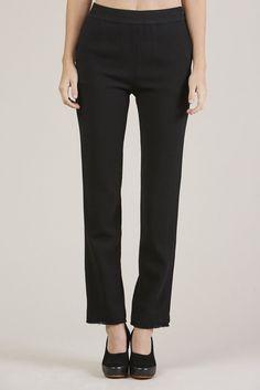Straight Pants, Black by Veronique Leroy @ Kick Pleat