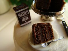 Chocolate cake miniature
