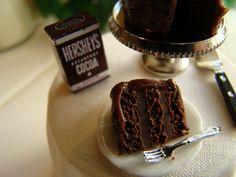 Chocolate cake miniature