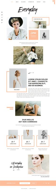 I love every last one of the their new Showit 5 designs! I can't believe I'm just now hearing about Showit. To win any of these designs would be a blessing. modern website inspiration BY GOLIVEHQ. Web Design Trends, Ui Design, Layout Design, Web Layout, Email Design, Blog Design, Interface Design, User Interface, Modern Web Design