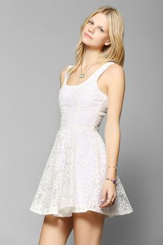Lucca Couture Embroidered Floral Mesh Dress #urbanoutfitters