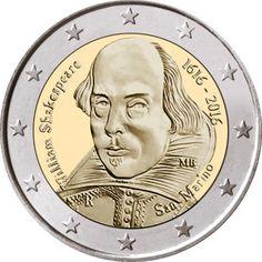 2 Euro San Marino 2016. Shakespear