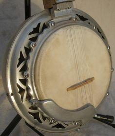 Dragon Handmade 5-String Banjo OOAK Aluminum Inlay Antique 1930 France Bluegrass Custom