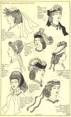 Mid 1860's ladies hats by dominique