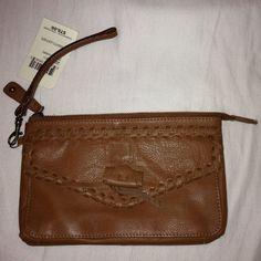 Lucky Brand Chimayo Leather Wristlet Clutch