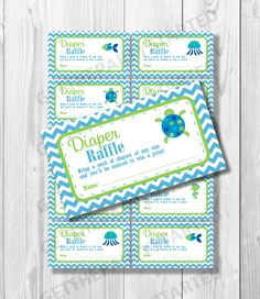 These printable baby shower diaper raffle tickets will be perfect for your upcoming baby shower! Raffle tickets measure and will be available as an inst Boy Baby Shower Themes, Baby Shower Printables, Baby Shower Games, Baby Boy Shower, Baby Shower Decorations, Baby Theme, Ocean Baby Showers, Dinosaur Baby Showers, Baby Dino