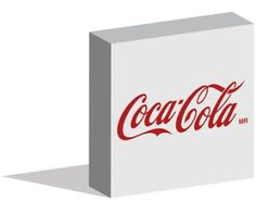Coca Cola logo logotype in 3d form on ground - Editorial Use Only - Istanbul, Turkey - July 08, 2016 ~ Work of Stock Editorials by stock404.com