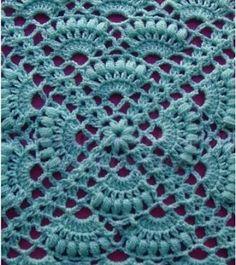 Crochet Shell Pattern, Crochet Diagram, Crochet Stitches Patterns, Filet Crochet, Crochet Motif, Stitch Patterns, How To Start Knitting, Learn To Crochet, Handmade Baby Blankets