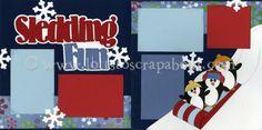 Sledding Fun (Boy) Scrapbook Page Kit