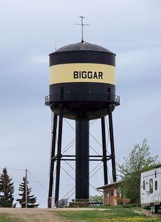 SK10e085 Water Tower, Biggar Saskatchewan 2010 by CanadaGood, via Flickr