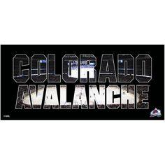 Colorado Avalanche 12'' x 26'' Team Pride Wall Art - Black
