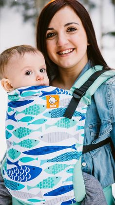 Canvas - Fluffy Bottom Babies Exclusive 'Sur La Mer' TULA BABY CARRIER Or sugar skulls, or whales, or camera print. So many fun prints to choose from.