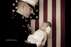 Colie Photos newborn photography   Marine dress blues with newborn