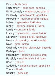 English Language Learning, Learning Spanish, Turkish Lessons, Learn Turkish Language, English Words, Arabic Quotes, Learn English, Grammar, Teaching