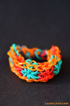 Starburst Loom Bracelet Variations #rainbowloom