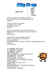 English worksheet: Asking the way