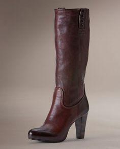 Women's Miranda Stud Tall Boot - Dark Brown