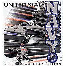 US NAVY DEFENDING AMERICA'S FREEDOM T-SHIRT - MILITARY T-SHIRTS