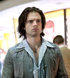 """325 Likes, 2 Comments - Sebastian Stan  (@sebastianstan_thewintersoldier) on Instagram: """"Dayum! Seriously Seb as Clay Apuzzo is sinfully sexy...that pout, bed hair, and the baring chest…"""""""