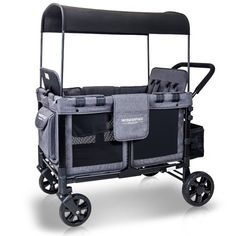 wonderfold baby multi function 4 passenger wagon folding quad stroller with removable reversible canopy seats 4 gray walmart com Quad Stroller, Travel Stroller, Baby Girl Strollers, Diaper Stroller, Bob Stroller, Twin Strollers, Jogging Stroller, Musik Player, Baby Essentials