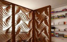 Separè da interni - Separè in legno con intarsi
