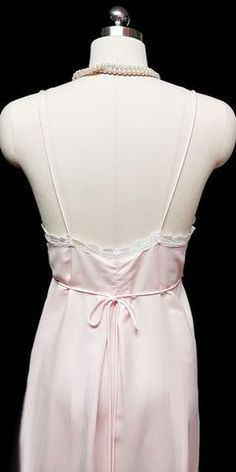 VINTAGE 1970 - 1980s CHRISTIAN DIOR SATIN EMBROIDERED LACE NIGHTGOWN IN  ROMANCE 429db5e0a