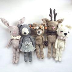 Crochet animals by Topito_de_Luna
