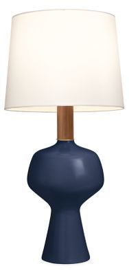 KleinReid artisans create the Althea table lamp exclusively for Room & Board in their New York studio. Inspired by midcentury Danish design, Althea's soft silhouette is accented by a custom glaze that provides a warm organic tone. The ceramic base is paired with a Dupioni silk shade for an elegant artisanal aesthetic.|Modern Room & Board | Althea Table Lamp