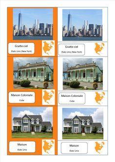 cartes nomenclature habitats Amerique du Nord fichier PDF complet des habitations du monde entier ici : http://activitesmaison.com/2015/06/06/voici-mes-cartes-de-nomenclatures-montessori-sur-les-habitations-du-monde/