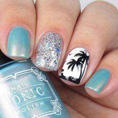 Beach Themed Nails, Beach Nails, Beachy Nail Designs, Nail Art Designs, Liquid Nail Tape, Vacation Nails, Dipped Nails, Nail Sizes, Us Nails