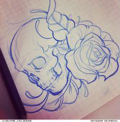 #skull #flower