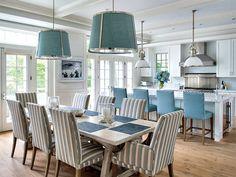 A long farmhouse table