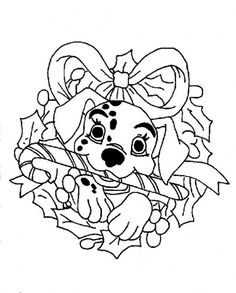Christmas Coloring, Dalmation Disney For Christmas Coloring Page: Dalmation Disney For Christmas Coloring PageFull Size Image