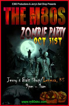 Halloween | 80s Party | Kansas City | M80s | Jerrys | Zombie Party | Live Music