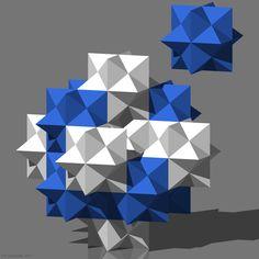 Teselación del espacio mediante rombododecaedros estrellados