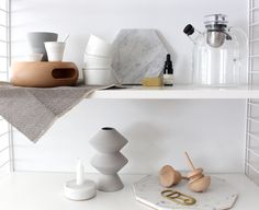 What is on your shelf? 2. Natural and chic items on your shelf #rooming #string #vipp #menu #vaxbolin #fermliving #eno #seletti #fortstandard #hay