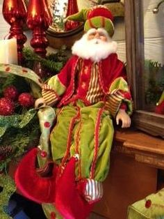 Santa Figurine on Mantle