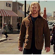 Chris Hemsworth Thor Movie Brown Leather Jacket