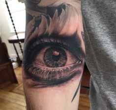 Thank you for taking a look, below is a black and grey eye that I got to tattoo on a good client Uri. Tattoo is located right in the ditch of the arm. Black Eye Tattoo, Tattoo Nightmares, Tattoo Arm Designs, Gray Eyes, Cover Up Tattoos, Eye Tattoos, Black And Grey, Album, Tattoos Cover Up
