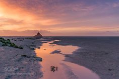 "Sunrise over the Mont-Saint-Michel Go to http://iBoatCity.com and use code PINTEREST for free shipping on your first order! (Lower 48 USA Only). Sign up for our email newsletter to get your free guide: ""Boat Buyer's Guide for Beginners."""