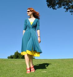 Handmade by Carolyn: Pattern Magic linked-front dress