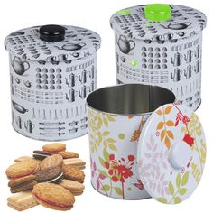 Metal Biscuit Cookie Cake Cupcake Candy Tin Airtight Canister Kitchen Storage in Home, Furniture & DIY, Home Decor, Boxes, Jars & Tins Kitchen Storage Boxes, Kitchen Box, Kitchen Canisters, Metal Box, Biscuit Cookies, Art Decor, Home Decor, Biscuits, Decorative Boxes