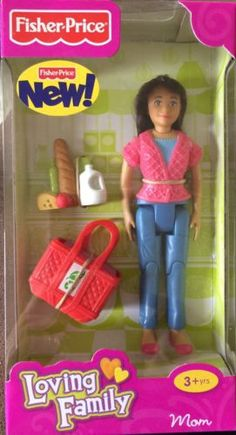 Fisher Price Loving Family Dollhouse NEW family mom girl lady green pants pink