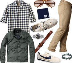 Great causal look. You can look relaxed, but still important.