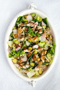 Replace the mayo with pan drippings and mustard vinaigrette for the ultimate roast chicken salad.
