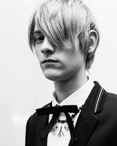 Nathan Dionisio by Lonny Spence - Backstage at Dior Homme FW16