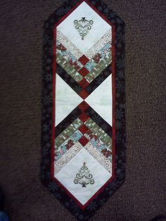 Christmas Tree embroidered table runner 56x19""