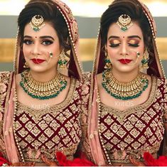 @shikachand Indian Wedding Makeup, Best Bridal Makeup, Indian Bridal Fashion, Beautiful Indian Brides, Beautiful Bride, Indian Wedding Photography, Photography Couples, Paco Rabanne Lady Million, Bridal Makeover