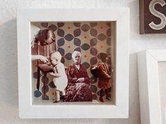 Familienfotos mal anders: Diese DIY-Anleitung zeigt Dir, wie Du aus alten Familienfotos, die nur im Schrank rumliegen, ein originelles Pop-Up Wandbild gestalten kannst.